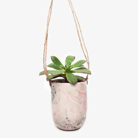 Marbled Ceramic Hanging Planter