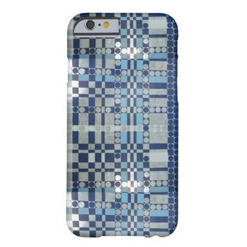 Vintage Retro Geometric blue pattern iPhone 6 case