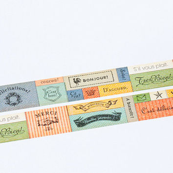 Message - Japanese mt ex Washi Masking Tape, Scrapbooking, Collage - Gift Wrapping -  MTEX1P61