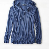 AEO Women's Don't Ask Why Striped Hoodie