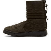 Black Python High-Top Sneakers42526M050001