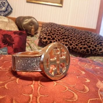 Awesome Tory Burch Inspired Statement Runway Cuff Bangle Bracelet