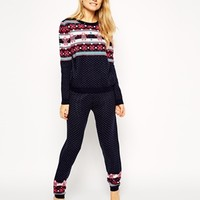 ASOS Co-ord Christmas Jogger With Eskimo Fairisle