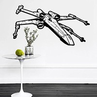 Wall Decal Vinyl Sticker Decals Art Home Decor Murals Star Wars Xwing X-Wing Fighter Children Nursery Room Bedroom Office Window Dorm AN234
