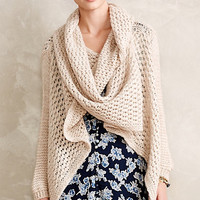 Pointelle Double Cowl Wrap