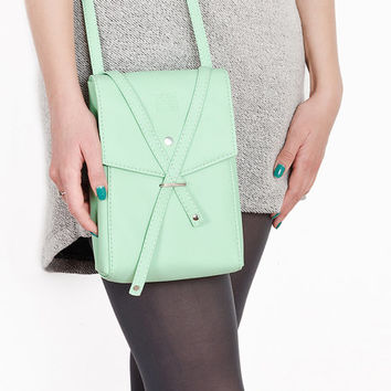 "Shoulder bag ""Floria"", mint bag"
