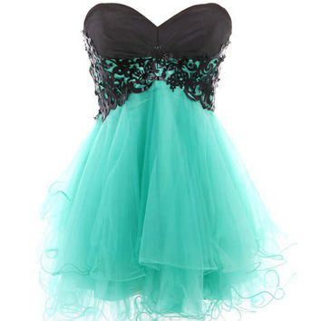 Cody Butterfly Dress - Turquoise