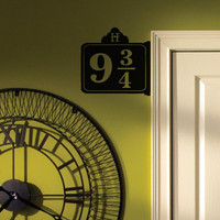 Harry Potter Platform 9 3/4 Replica Sign - Vinyl Wall Decal / Sticker