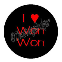 "Pin or Magnet - BHP09 - I heart Won Won - Harry Potter - 1"" inch Pinback Button Badge or Fridge Magnet"