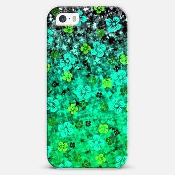 LUCK OF THE IRISH - Bold Bright Green Emerald Jade Lime Floral Abstract Ombre St. Patrick's Day Ireland Lucky Festive Flowers Colorful Painting iPhone 5s case by Ebi Emporium | Casetify
