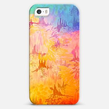 SKY RISERS 2 - Pretty Feminine Pastel Colorful Girlie High Rise Buildings Castle Abstract Galaxy Cosmic Whimsical Heaven Watercolor Painting iPhone 5s case by Ebi Emporium | Casetify