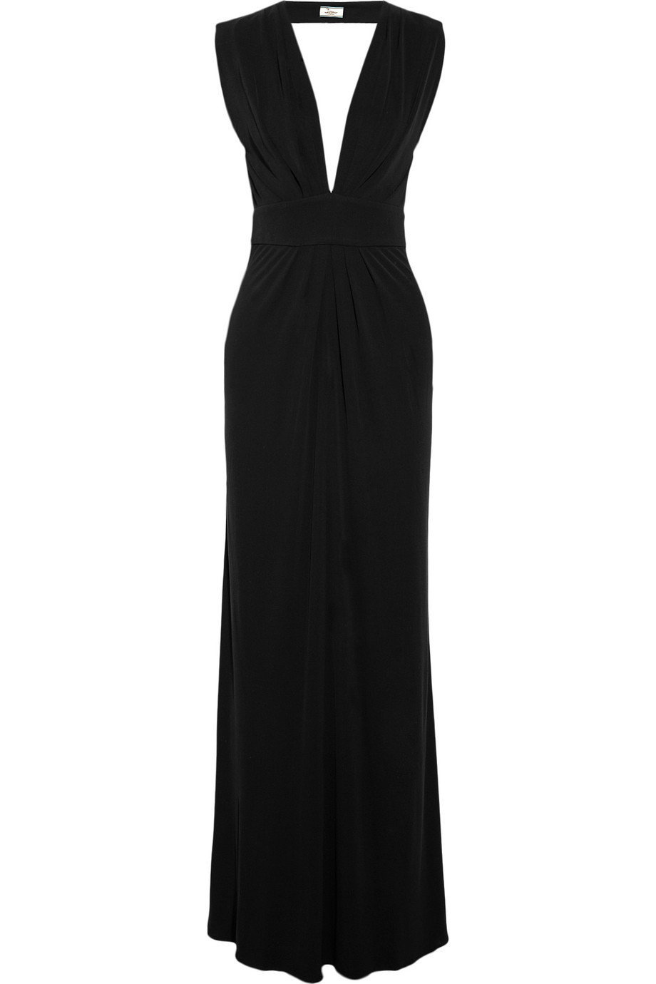 Issa|Pleated silk-crepe jersey gown|NET-A-PORTER.COM