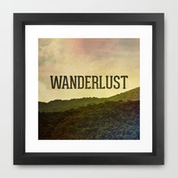 Wanderlust I Framed Art Print by Galaxy Eyes | Society6