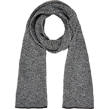 River Island MensBlack and white rib knit scarf