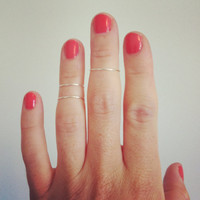 Triple layer knuckle ring - 3 sterling silver knuckle wire bands.