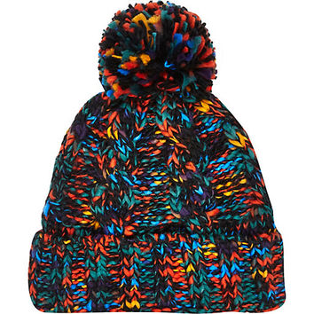 River Island MensMulticolored cable knit beanie hat