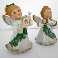 Ceramic Christmas Angels Homco Home Interiors 5252