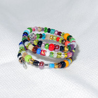 Beaded Wire Adjustable Wrap Ring