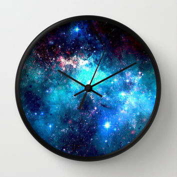 Blue Stars II Wall Clock by Nikki Hung