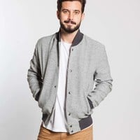 Bomber Jacket - Heather Grey : Marine Layer