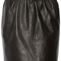 Adam Lippes - Belted leather mini skirt