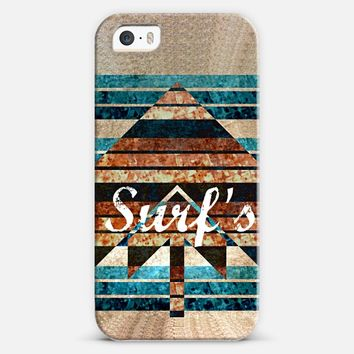 SURF'S UP - Whimsical Beach Surfing Ocean Waves Sand Nautical California Inspired Summer Arrow Modern Geometric Abstract Chic Sea Surfer Painting iPhone 5s case by Ebi Emporium | Casetify