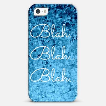 BLAH BLAH BLAH - Funny Typography Hipster Cool Chatter Colorful Royal Blue Ombre Whimsical Modern Chic Fun Stars Pretty Abstract Painting iPhone 5s case by Ebi Emporium | Casetify