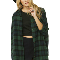Oversized Flannel Dress