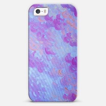 PURPLE PLUMES - Lovely Lilac Lavender Periwinkle Soft Blue Pretty Fluffy Clouds Sky Sweet Feminine Abstract Colorful Pastel Painting iPhone 5s case by Ebi Emporium | Casetify