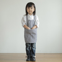 Linen Kid's Apron in Navy/White Check