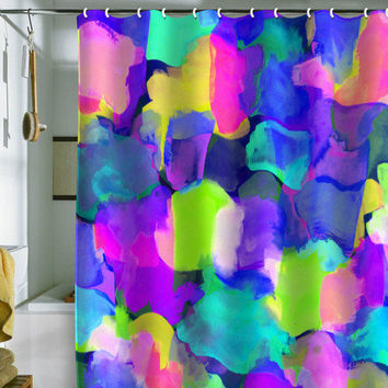 DENY Designs Home Accessories | Amy Sia Brushstroke Blue Shower Curtain