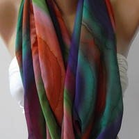 Dance of the Colors Collection....Infinity - Loop - Circle - Elegant - Feminine - Summer - Shawl - Scarf