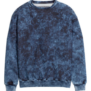 H&M - Sweatshirt - Dark blue - Men