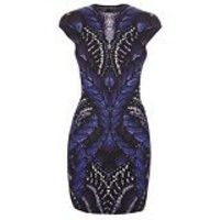 Alexander McQueen : BUTTERFLY JACQUARD MINI-DRESS