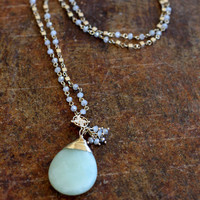 Drops of Jupiter Necklace {Mint/Cream}