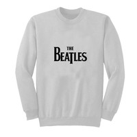 the beatles sweater White Sweatshirt Crewneck Men or Women for Unisex Size with variant colour