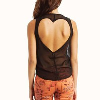 sequined-heart-cut-out-top BLACK MINT - GoJane.com