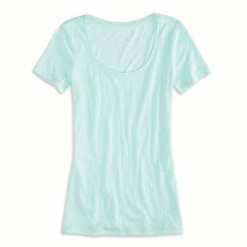 AEO FACTORY SCOOP NECK ULTIMATE T-SHIRT