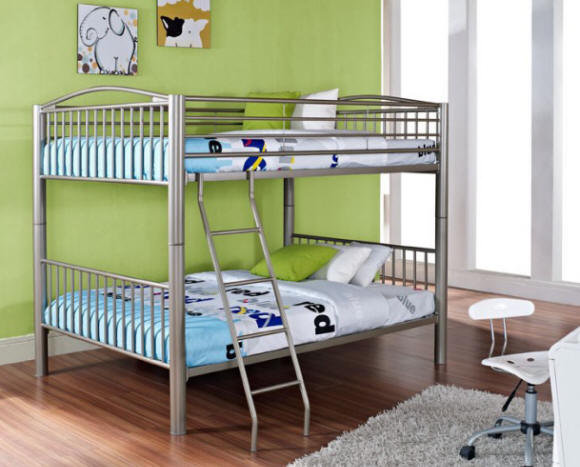 Spark Black Full over Full Black Bunk Beds