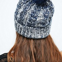 Ombre Pom Beanie in Navy - Urban Outfitters