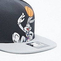 Starter Daffy Duck Space Jam Snapback Cap in Black and Grey - Urban Outfitters