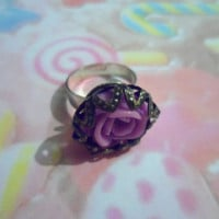 Purple Rose adjustable ring - BeCutie