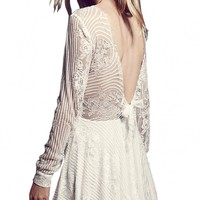 Thrilling Lace Fit Flared Party Skater Dress - OASAP.com