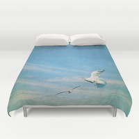 flying into blue II Duvet Cover by Steffi ~ findsFUNDSTUECKE