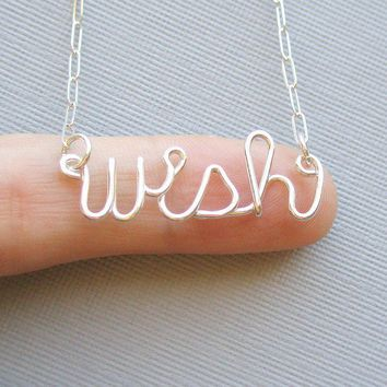 wish necklace by PianoBenchDesigns on Etsy