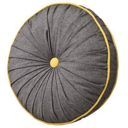 Threshold Upstate Gray Round Pillow