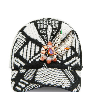 Aigrette Crystal-Embellished Tween Baseball Cap by Shourouk - Moda Operandi
