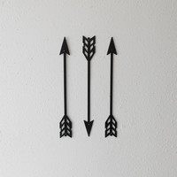 Arrows / Metal Art / Wall Decor / Set of Three / Home Decor / Arrow head / Native American / Archery /  Several sizes
