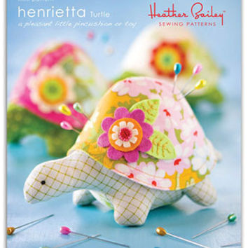 Pattern, Pin Cushion Pattern, Henrietta Turtle, Toy or Pet, mini pattern