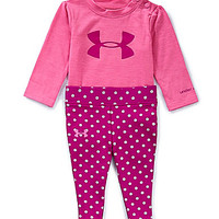 Under Armour Newborn-9 Months Logo-Accented Long-Sleeve Tee & Dotted P